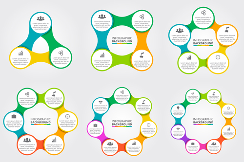 Circle business infographic creative vector 01