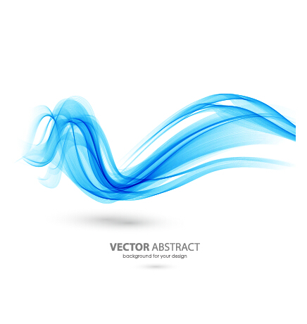 colored curved lines abstract background vector 13 - vector