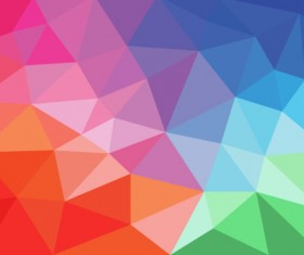 Colored geometric shapes art background vector