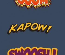 Comic book styles font design vector