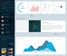 Creative WEB UI adventure company dashboard Psd material