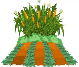 Creative corn art background vector 02