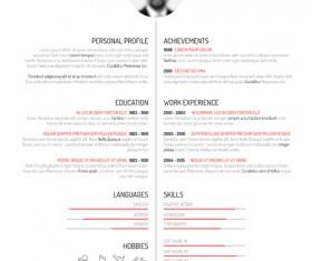 Creative resume template design vectors 01