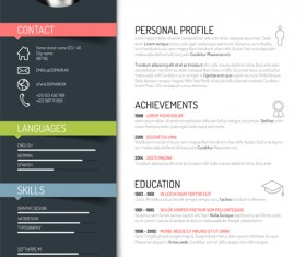 Resume vector for free download creative resume template design vectors 02 yelopaper Image collections