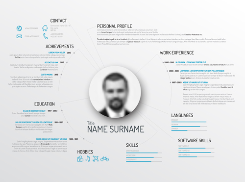 Resume vector for free download creative resume template design vectors 03 yelopaper