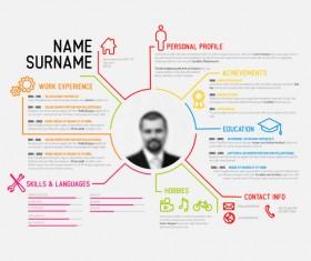 Creative resume template design vectors 04
