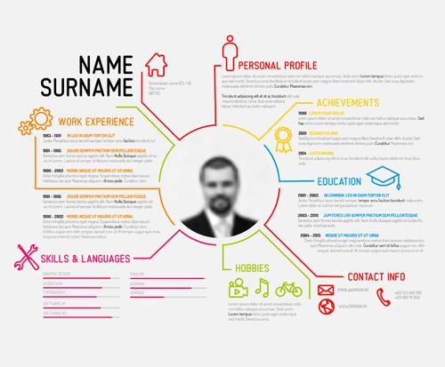 creative resume template design vectors 04 free download