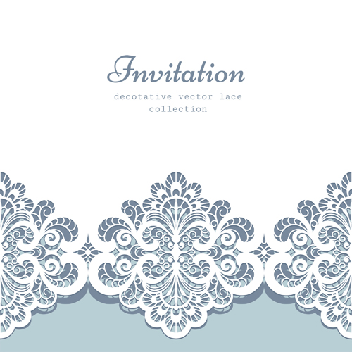 Save Our Designs Free EPS file Decorative lace Invitation cards