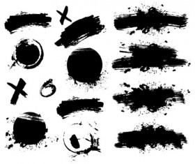 Different Ink brushes vector