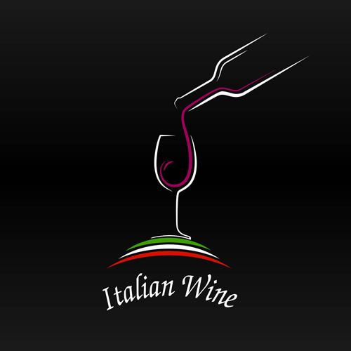 elegant wine logo vector material free download