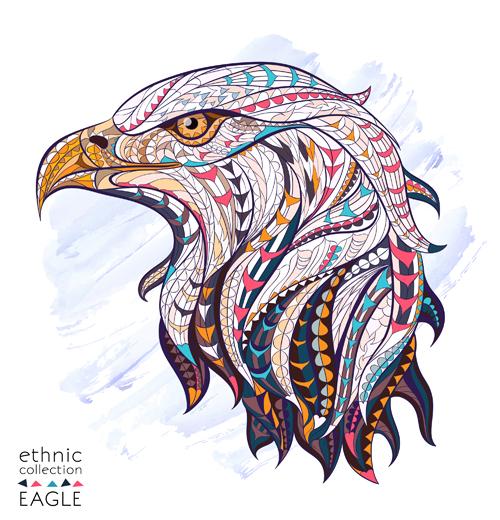 Ethnic Pattern Eagle Vector Animal