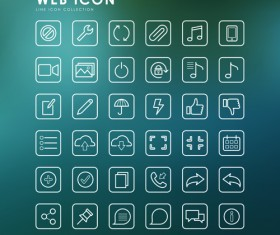 Excellent web outline icons vectors 02