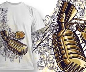 Fashion T-shirt design elements set vector 03