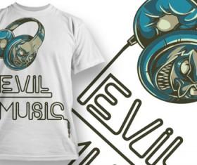 Fashion T-shirt design elements set vector 04