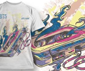 Fashion T-shirt design elements set vector 06