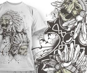 Fashion T-shirt design elements set vector 07
