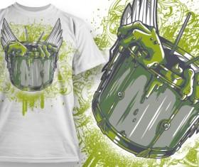Fashion T-shirt design elements set vector 08