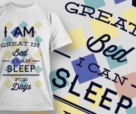 Fashion T-shirt design elements set vector 15