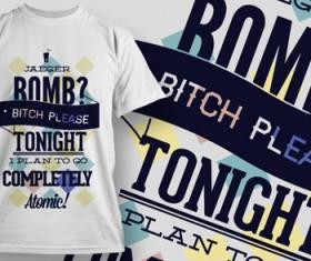 Fashion T-shirt design elements set vector 16