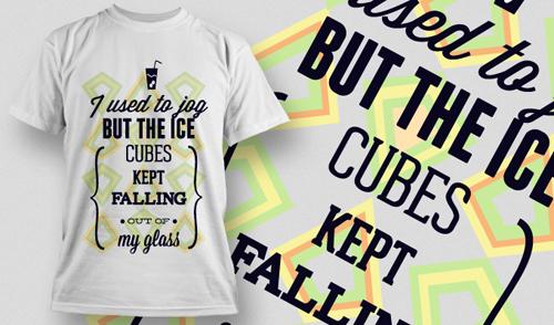 Fashion T shirt design elements set vector 19