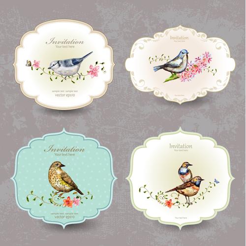 Vintage bird vector free download - photo#40