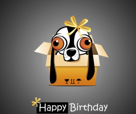 Funny cartoon character with birthday cards set vector 23
