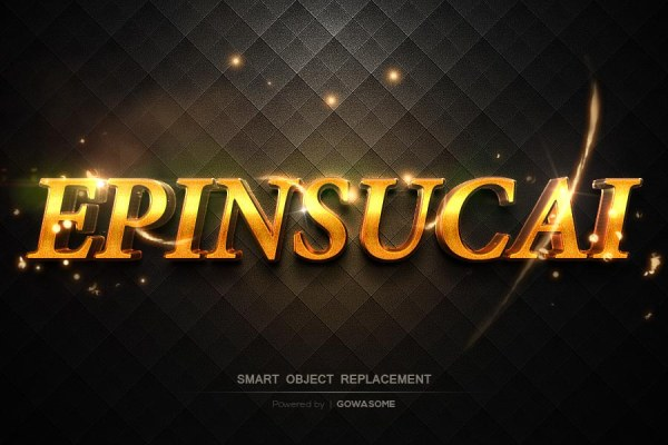 Glossy golden text photoshop styles