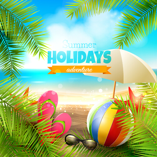 happy summer holiday background vectors 03 free download