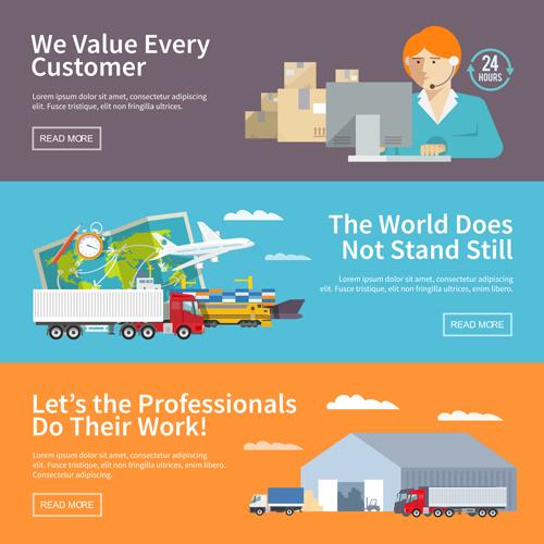 Modern business banners design vector 05 - Vector Banner, Vector ...