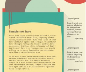 News page website template vector material 10