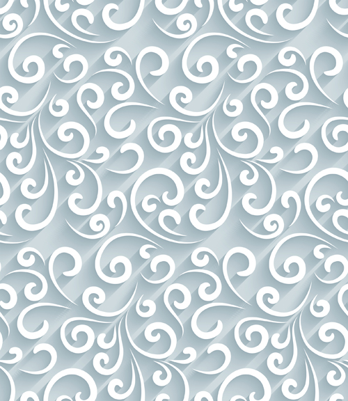 Paper floral seamless pattern vector - Vector Floral ...