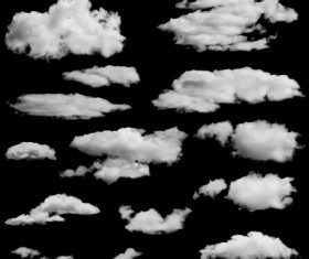 Realistic clouds vector illustration set 03