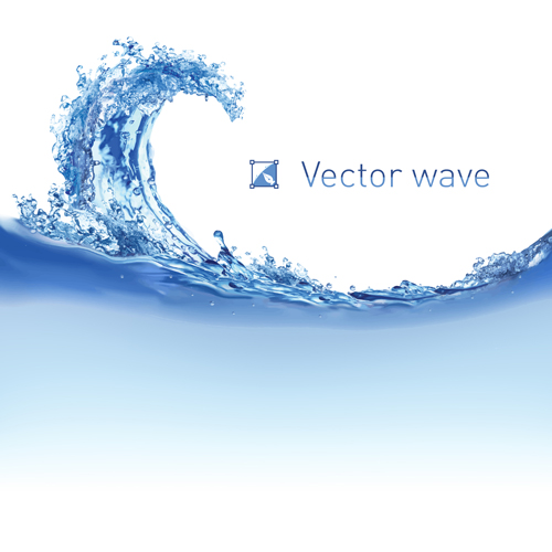 Realistic water wave vector background 01