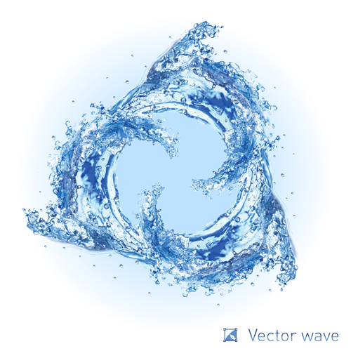 Realistic water wave vector background 02