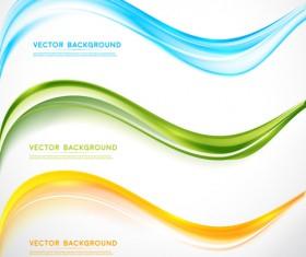Refreshing wavy art background vector