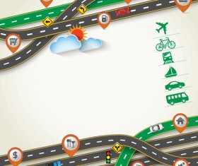 Road Traffic schematic vector template 03