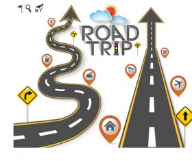 Road Traffic schematic vector template 04