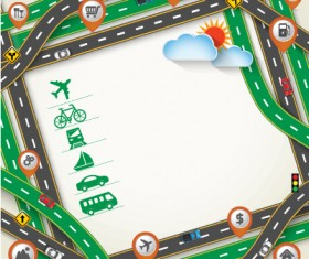 Road Traffic schematic vector template 08