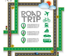 Road Traffic schematic vector template 10
