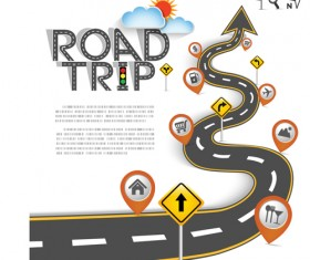 Road Traffic schematic vector template 11