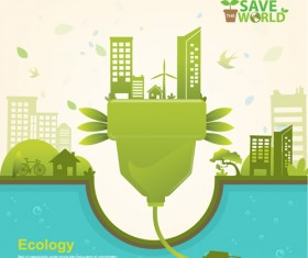 Save world Eco infographics template vector 02