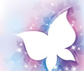 Shiny butterfly shape background vector