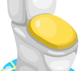 Shiny toilet design vectors 01