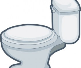 Shiny toilet design vectors 02