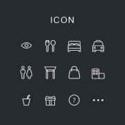 Link toSimple restaurants and society icons psd