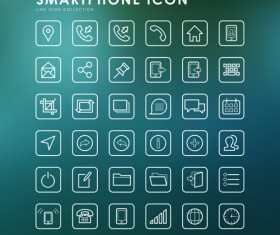 Smartphone outline icons creative vector 02