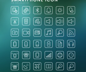 Smartphone outline icons creative vector 03