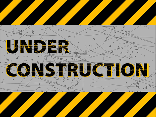 Under construction sign grunge background vector - Vector ... Under Construction Logo