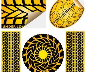 Under construction sticker vector graphic 01