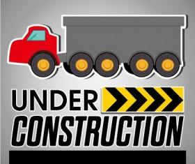 Under construction sticker vector graphic 02